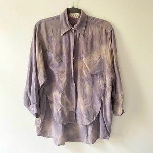 Gorgeous Silk Tie Dye Button Down